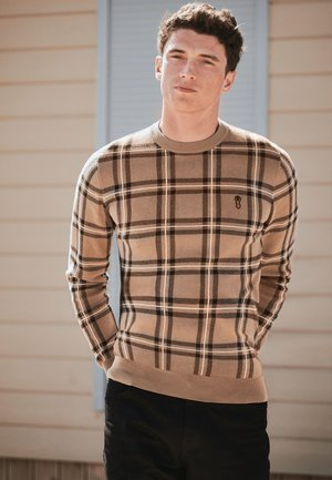 CHECK - Jumper - brown
