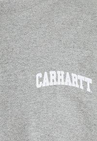 Carhartt WIP - UNIVERSITY SCRIPT - Printtipaita - grey heather/white - 2