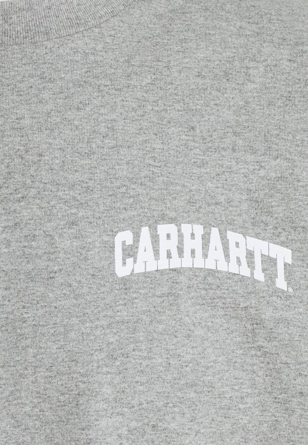 Carhartt WIP UNIVERSITY SCRIPT - T-shirt z nadrukiem - grey heather/white/szary melanż Odzież Męska HZYK