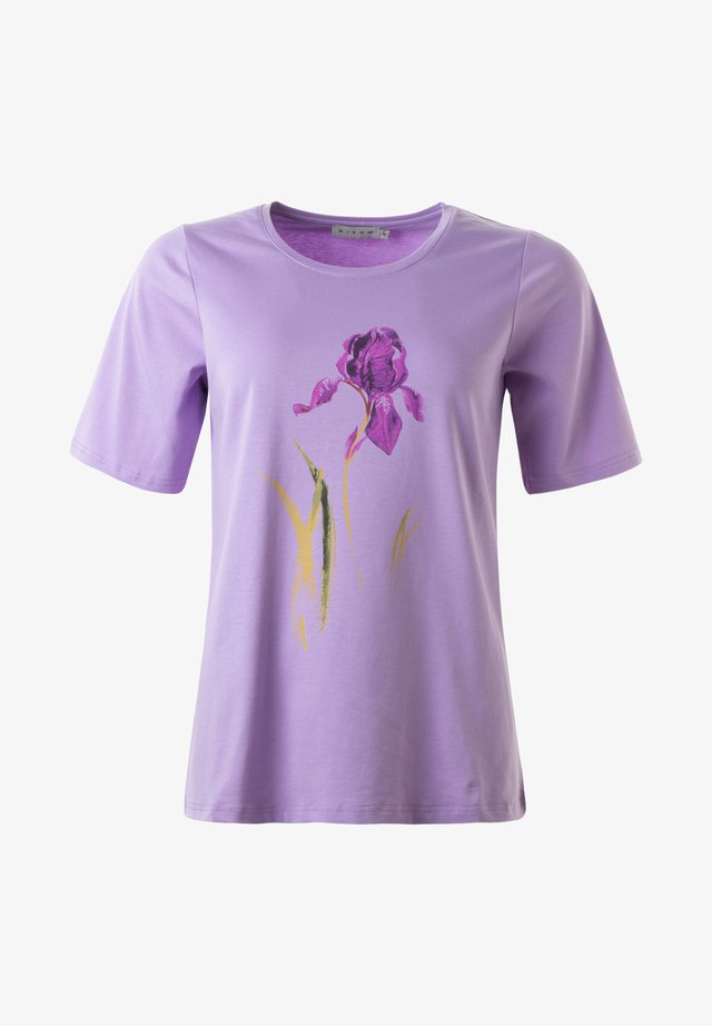 T-shirt med print -  light lilac