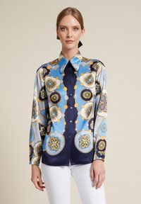 Luisa Spagnoli - Button-down blouse - var blu/celeste/blu - 0
