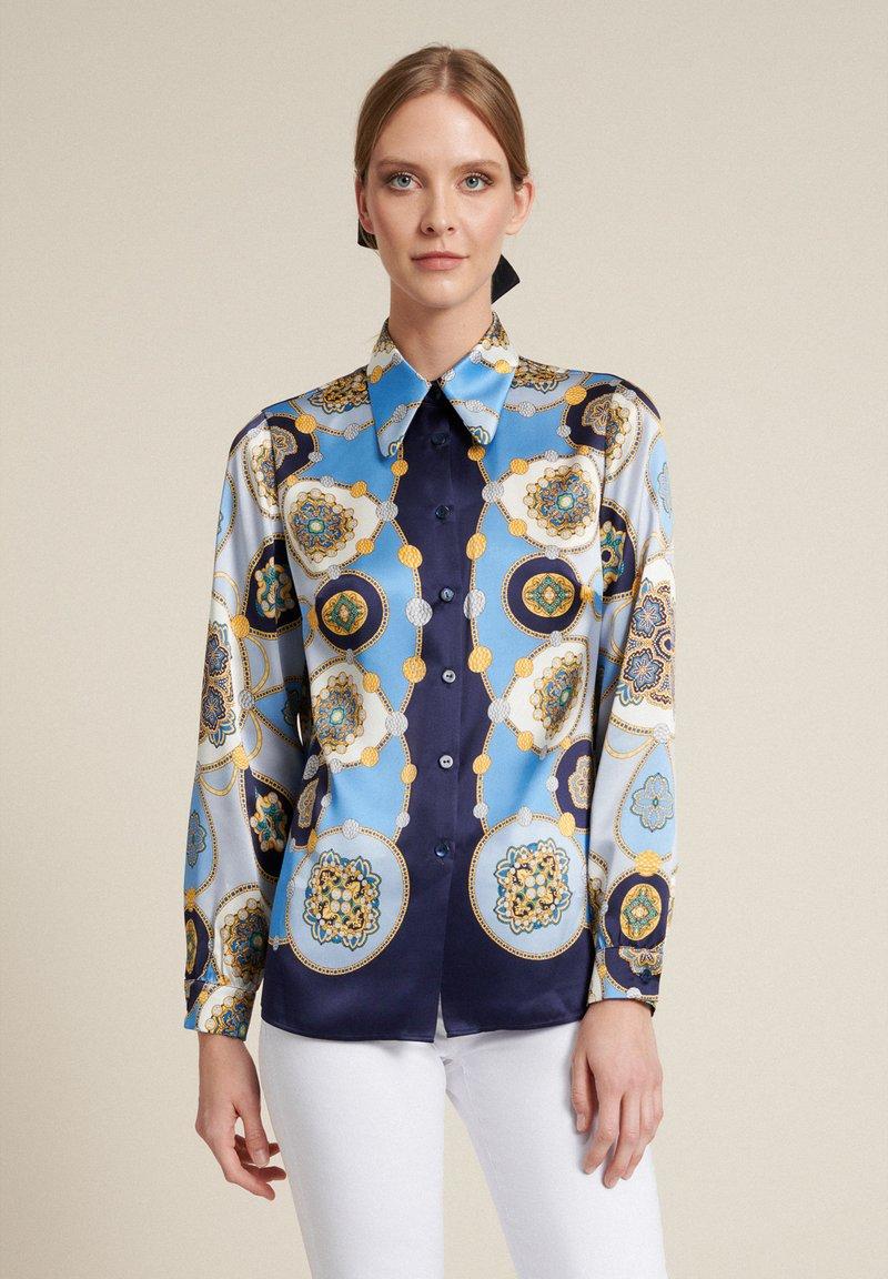 Luisa Spagnoli - Button-down blouse - var blu/celeste/blu