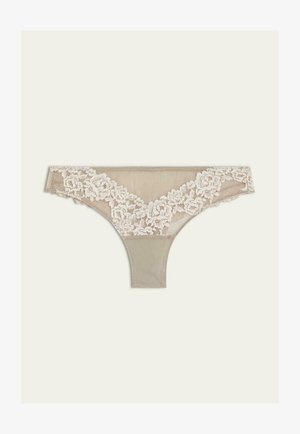PRETTY FLOWERS - Thong -  powder beige/cream white