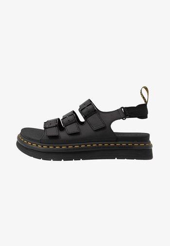 SOLOMAN 3 STRAP - Sandaalit nilkkaremmillä - black
