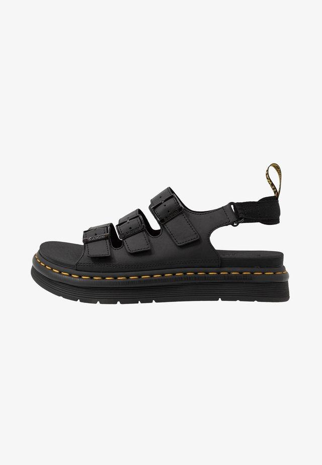 SOLOMAN 3 STRAP - Sandals - black