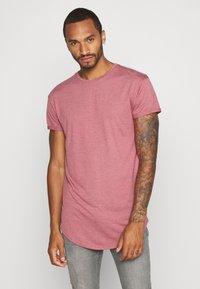Topman - 2 PACK SCOTTY  - Basic T-shirt - pink/stone - 1