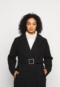 Dorothy Perkins Curve - CURVE BELTED WRAP COAT - Abrigo - black - 3