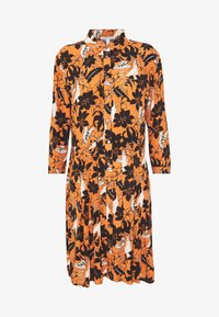 Shirt dress - rust orange