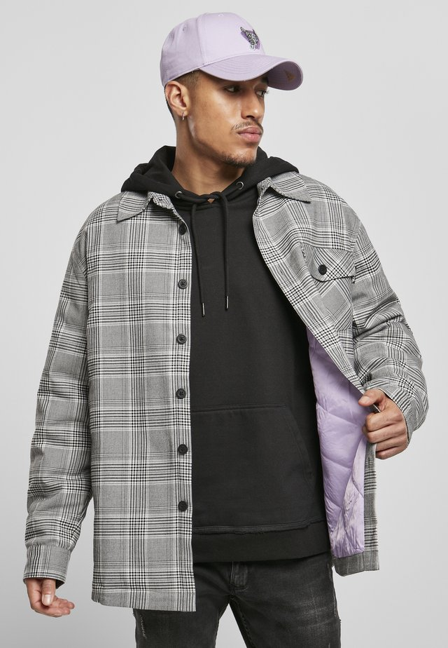 HERREN PLAID OUT QUILTED  - Summer jacket - black/white