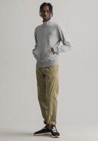 GANT - Zip-up hoodie - grey melange - 1