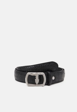 BELT PLACCA LEVRIERO COCCO - Belt - black