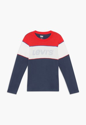 COLOR BLOCK - Langærmede T-shirts - dress blue