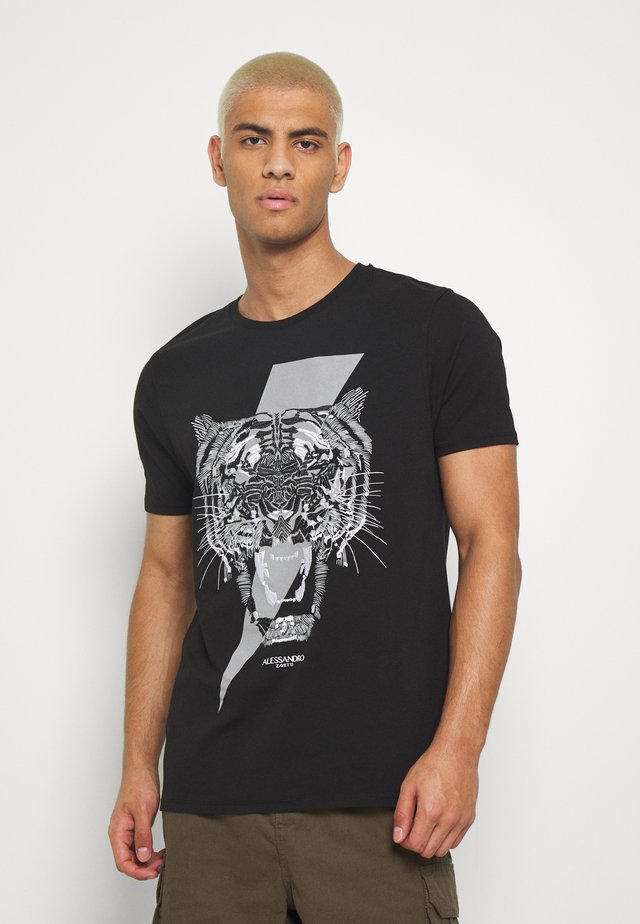 TIGERBOLT  - Print T-shirt - black