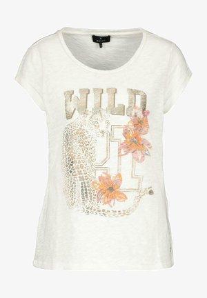 Print T-shirt - beige