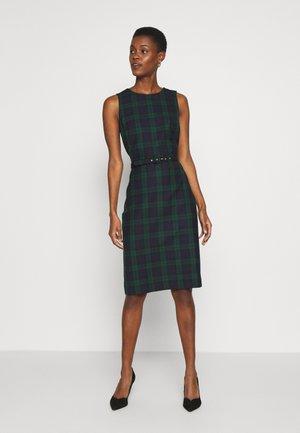 BLACKWATCH CHUCK DRESS - Pouzdrové šaty - navy multi