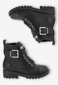 Next - Šněrovací kotníkové boty - black - 1