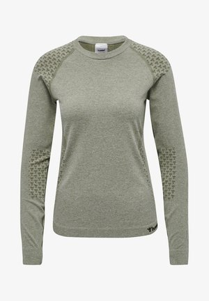 HMLCI SEAMLESS  - Long sleeved top - vetiver melange