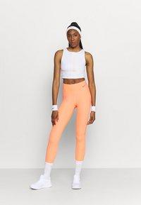 Nike Performance - TANK FEMME  - Funktionsshirt - white/bright mango/grey fog - 1