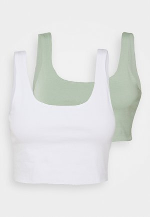 ASH CROP TANK 2 PACK - Topper - white/lush green