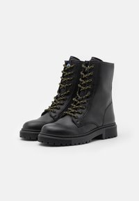 Tommy Jeans - DOUBLE DETAIL LACE UP BOOT - Lace-up ankle boots - black - 2