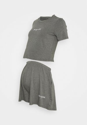 SCRIPT NIGHTWEAR SHORTS SET - Spodnie od piżamy - grey