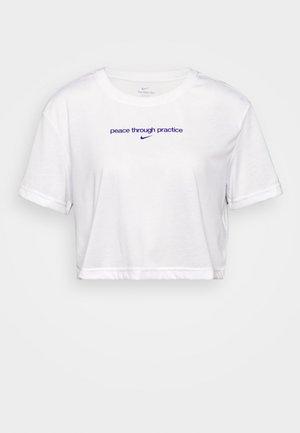 CROP YOGA - Camiseta estampada - white