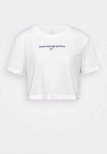 CROP YOGA - Print T-shirt - white
