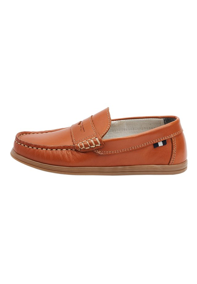 TAN LEATHER PENNY LOAFERS (OLDER) - Nazouvací boty - brown