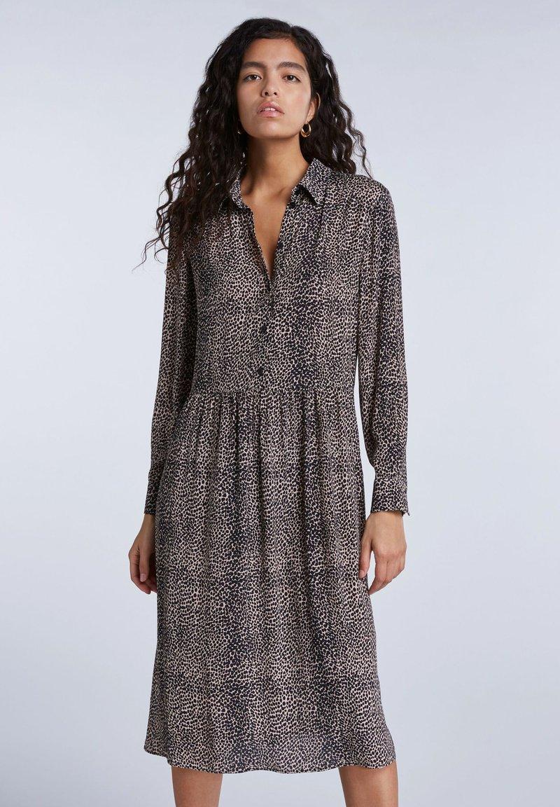 SET - Shirt dress - light stone grey