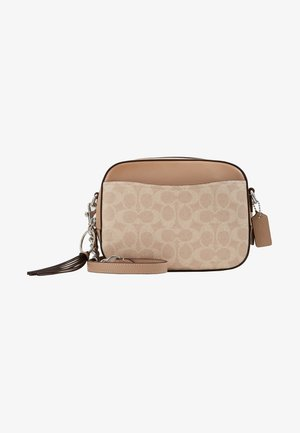 SIGNATURE CAMERA BAG - Across body bag - sand taupe