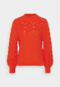 Selected Femme - SLFEVALINE  O NECK - Strickpullover - orange - 0