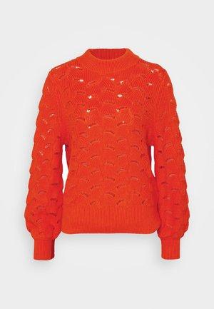 SLFEVALINE  O NECK - Jumper - orange