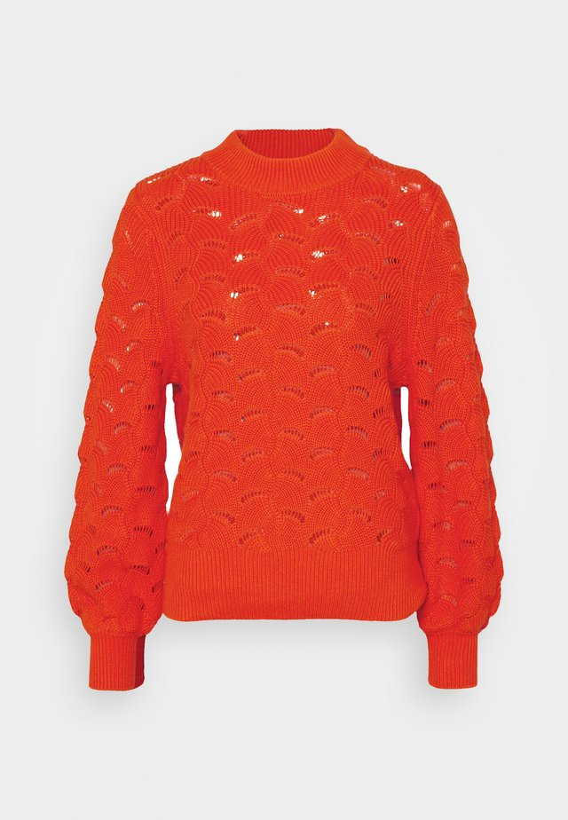 SLFEVALINE  O NECK - Jumper - orange
