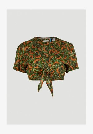 Blouse - yellow with green