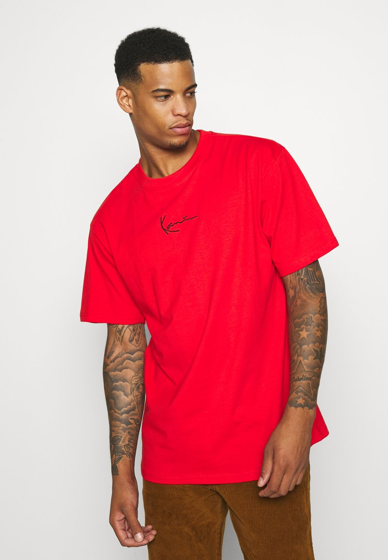Karl Kani - SMALL SIGNATURE TEE UNISEX - Print T-shirt - red