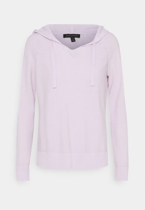 OPEN NECK HOODIE HOOKUP - Stickad tröja - palest lilac
