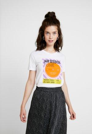 FUNK ROLL HEM - Print T-shirt - optical white