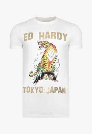 TIGER-MOUNTAIN T-SHIRT - Print T-shirt - white