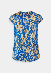 comma - KURZARM - T-shirt med print - blue - 1