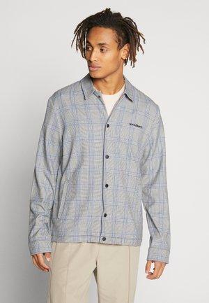 BRENTI CHECK - Shirt - light grey