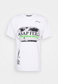 A$AP FERG WORLDWIDE - Print T-shirt - white