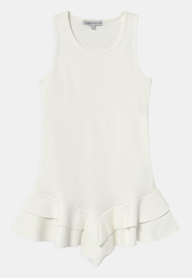Patrizia Pepe - ABITO COSTINA - Jersey dress - white