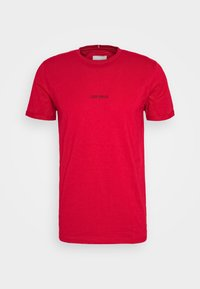LENS - T-shirt con stampa - red/black