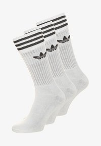 adidas Originals - SOLID CREW UNISEX 3 PACK - Socks - white/black - 0