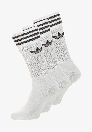 SOLID CREW UNISEX 3 PACK - Socks - white/black