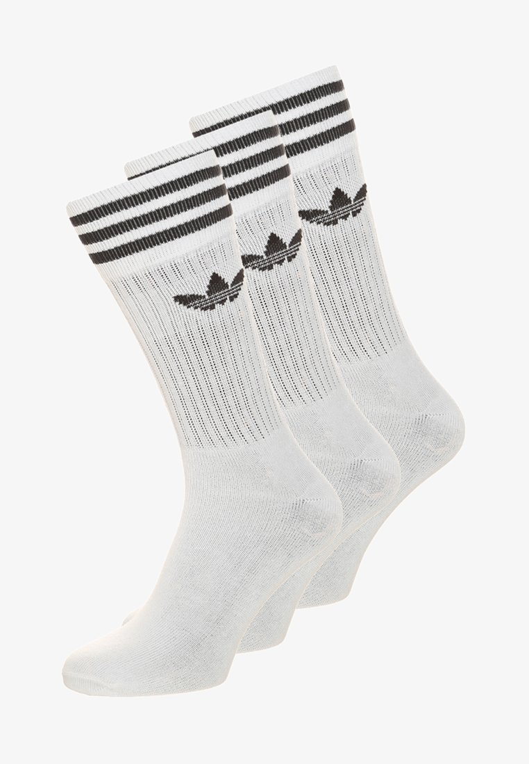 adidas Originals - SOLID CREW UNISEX 3 PACK - Socks - white/black