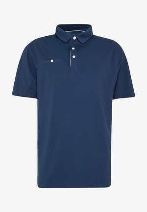 PLAYER SOLID - Polo shirt - blue void/deep royal blue/brushed silver