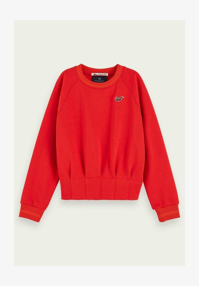 Sweatshirt - reef red