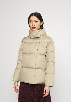 WRAP JACKET - Down jacket - beige