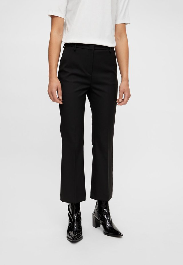 CAROLINE KICK FLARE - Pantalon classique - black